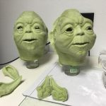 Yoda Foamlatex Skins for Animatronic Head