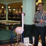 T-Mobile Dreh mit Animatronic Flamingo