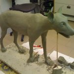Wolf Tierdummie sculpting Wickie