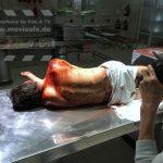 Messerstiche Rücken SFX Blut