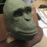 Affenkopf Sculpt Tierdummie