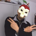 Rapper Totenkopf Apfelmaske