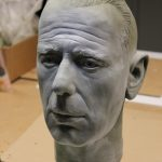 Humphrey Bogart Life Size Head Sculpt Bar Film Kino Cinema Diner Ausstattung
