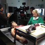 Organentnahme SFX Offener Brustkorb Film , Autopsy SFX