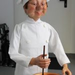 Restaurierung von alter Jahrmarkt / Volksfest / Kirmes Puppe Koch mechanisch movieSFX