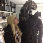 Original Aliens Kostüm nach der Resaturierung