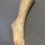 Frauen Bein SFX Silikon Leichenfarbe Bodyparts Körperteile