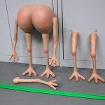 ASS Puppet Arsch Puppe mit Arme und Beine SFX